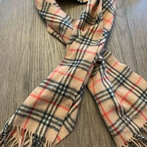 100% AUTH BURBERRY LAMBSWOOL NOVA CHECK SCARF